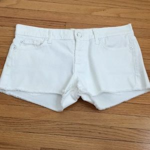7 for all mankind white cut off jeans shorts